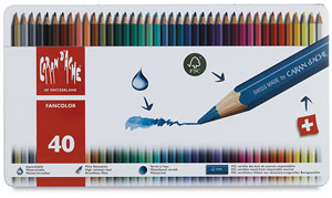 Caran d'Ache Fancolor Watercolor Pencil Sets, NULL, Set of 40