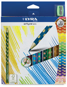 Lyra Groove Slim Colored Pencils, 24 Count