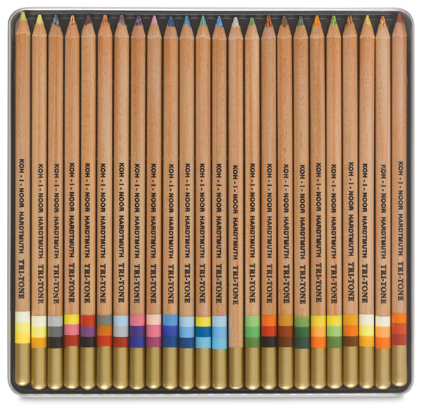 Tri-Tone Colored Pencils, Set of 24