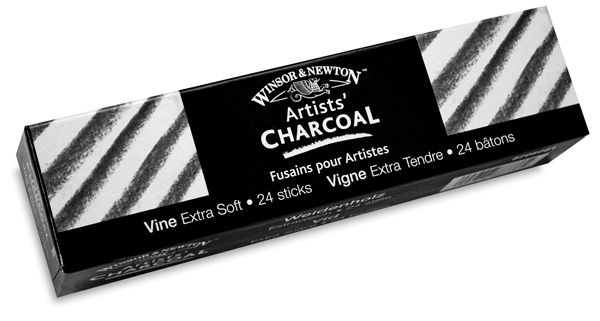 Vine Charcoal, Extra Soft, Pkg of 24 Sticks