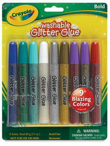 Glitter Glue, Set of 9