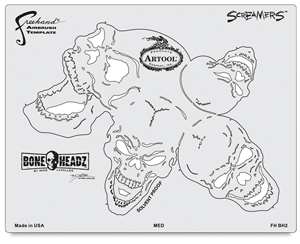 BoneHeadz Screamers Templates, Set of 4