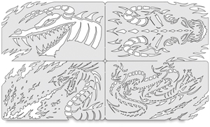 Draco Nano Templates, Set of 4