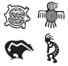 Set of 4, Native American Designs