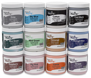 Teacher&#39;s Palette Glazes, Class Pack of 12 (8 oz Containers)