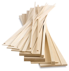 Midwest products genuine basswood strips blick art materials