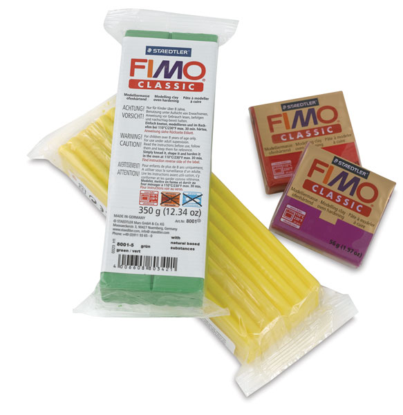 Fimo Classic Polymer Clay, 2 oz and 13 oz Sizes