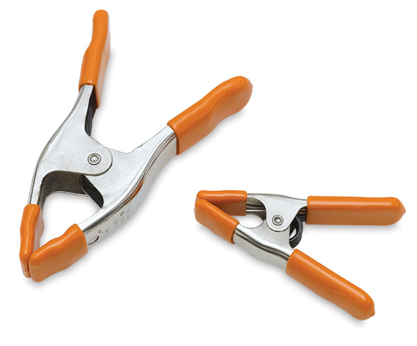 "2"" (Left) and 1"" (Right) Spring Clamps"