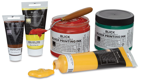 Water-Soluble Block Printing Inks