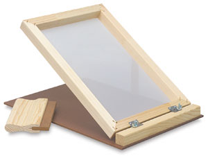 Screen Printing Unit, with 7&quot; Squeegee
