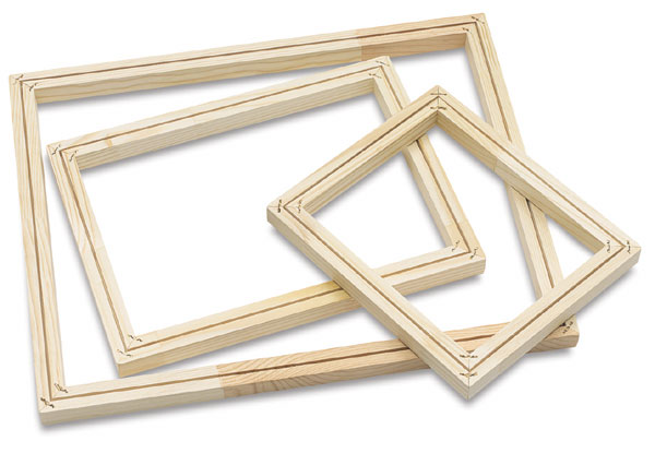 Blick wooden screen frames without fabric art