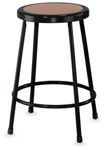 Fixed Height Stool, Black  NEW! 