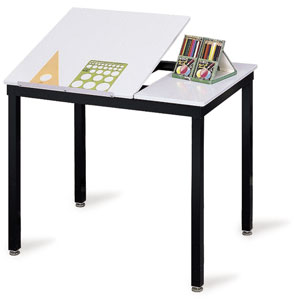 Planner Graphic Arts Table, Gray/Black