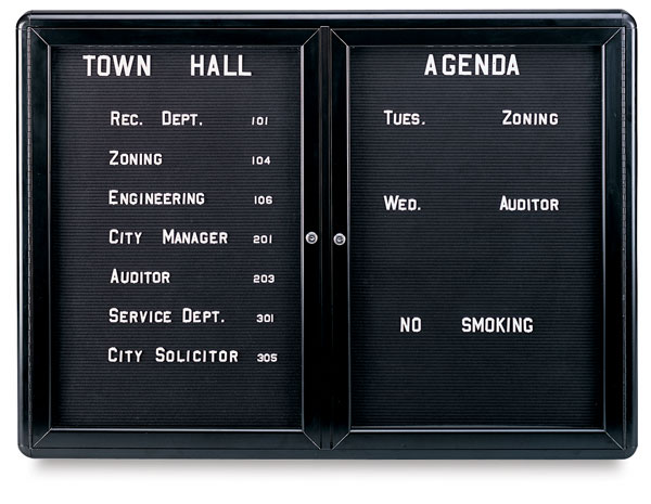 Letterboard Message Center