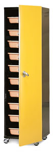 10-Tray Cabinet, Casters, and Door