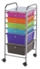 Mobile Storage Cart, 6-Drawer Multi