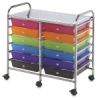 Mobile Storage Cart, 12-Drawer Multi