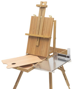 Sketchbox Easel  shown with Shelfhelp 