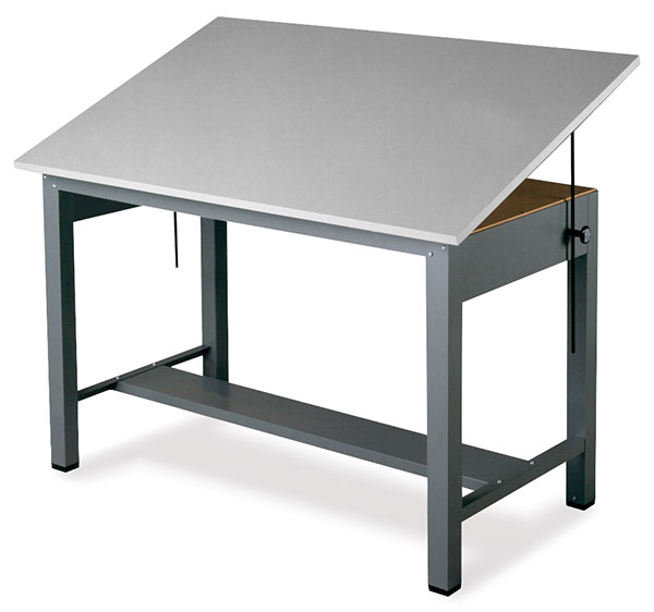 Mayline Economy Ranger Steel Four Post Drawing Tables