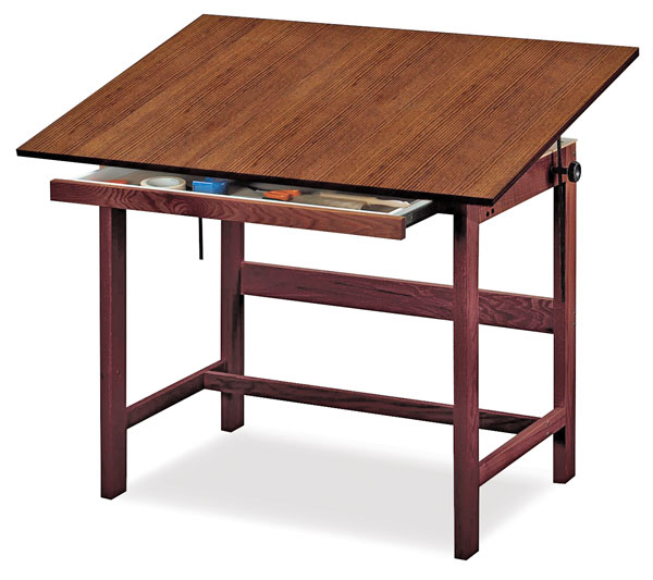 Drawing desk plans pdf woodworking for Blueprint plan table