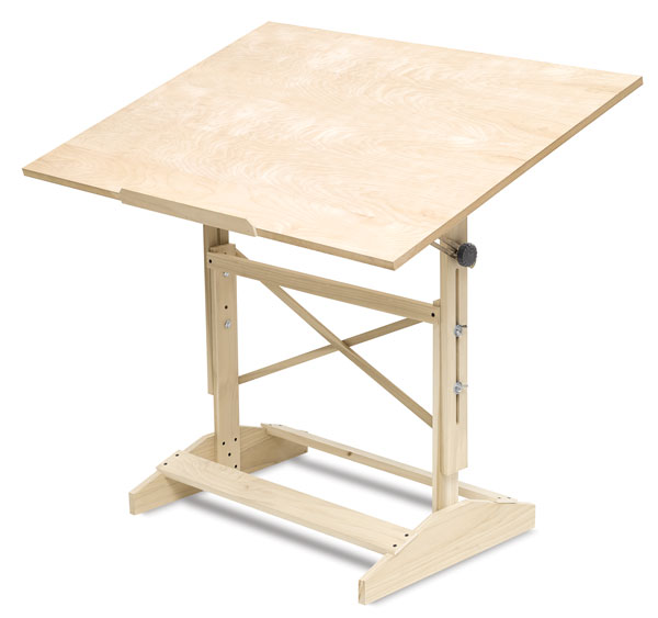 Wooden drafting table plans woodideas for Wooden table designs images