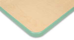 Maple with Mint Trim