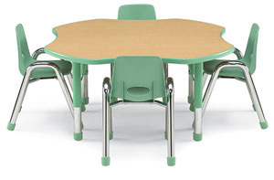 Table with Matching Stacking Chairs (Sold Separately)