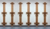 12 ft Triple Mast Set, Two sets shown