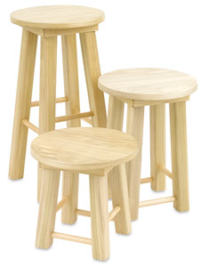 Solid Poplar Stools