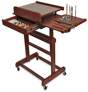 Craftech Rolling Painting Table BLICK Art Materials