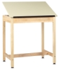 "Drawing Table w/out Drawer, 1 Piece Top, 36""H × 36""W × 24""D"