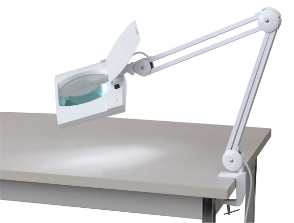 Heavy-Duty Magnifier LED Clamp Lamp