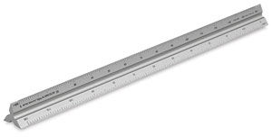 Metric Triangular Drafting Scale