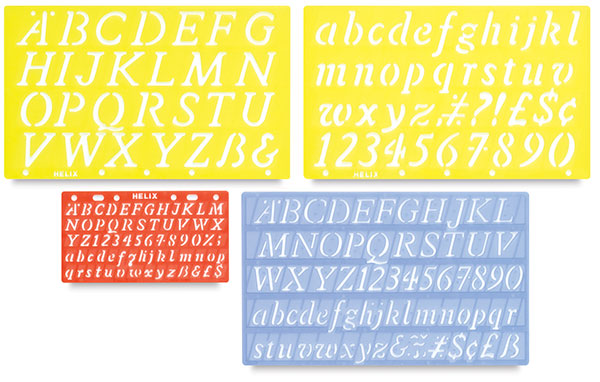 helix lettering guide value pack blick art materials With lettering guide