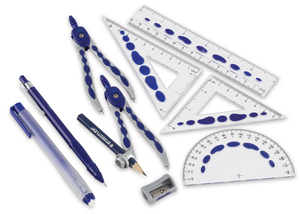 Pro Grip Premium Math Set w/  FREE  Pencil and Eraser