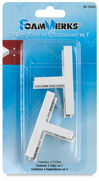 Foamboard T-Clips, Package of 4
