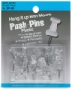Clear Plastic Push Pins, Pkg of 20