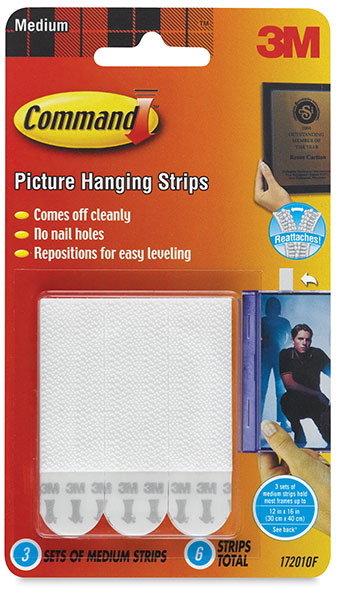 Picture Hanging Strips  Medium, Pkg of 6