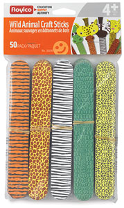 Wild Animal Craft Sticks, Pkg of 50