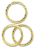 Jump Rings, Gold Finish