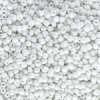 Opaque Glass E Beads, White