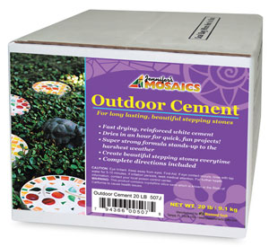 Mosaic Stone Outdoor Cement, 20 lb