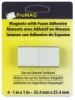 Adhesive Magnetic Squares, Pkg of 4, 1&quot;