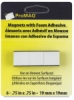 Adhesive Magnetic Squares, Pkg of 6, &frac34;&quot;