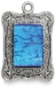 Antique Silver Rectangle Ornate, Sample Artwork