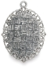 Antique Silver Oval, Back
