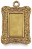 Brass Rectangle Ornate, Front
