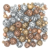 Metallic Terra Cotta Clay Bead Assortment