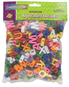 Shaped Alphabet Beads, Pkg of 288