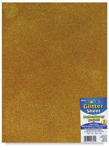 Glitter Foamies Sheet, Gold